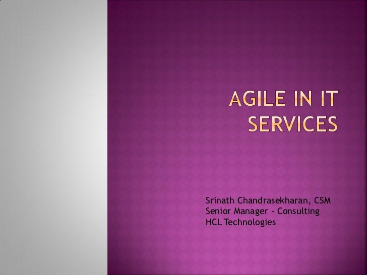 Challenges in doing Agile in IT Services
