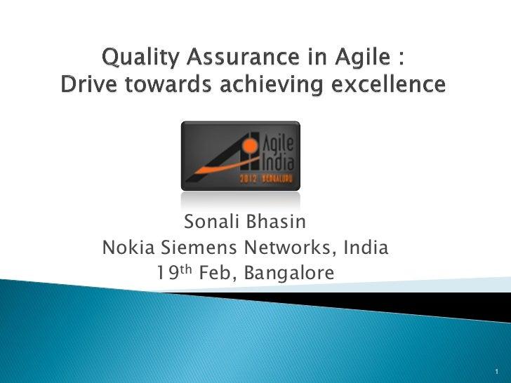 Sonali BhasinNokia Siemens Networks, India     19th Feb, Bangalore                                1