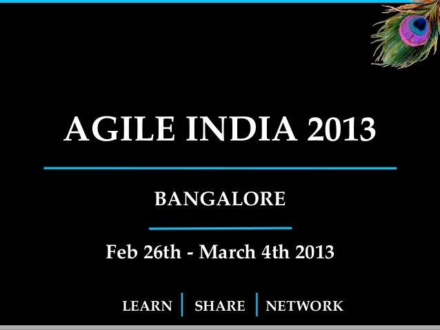 Agile India 2013 Conference