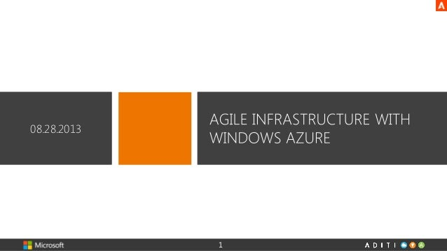 Agile Infrastructure with Windows Azure