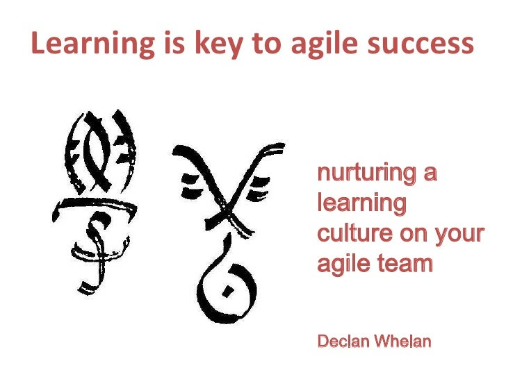 Learning is key to agile success<br />nurturing a learning culture on your agile team<br />Declan Whelan<br />
