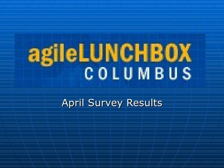 April Survey Results