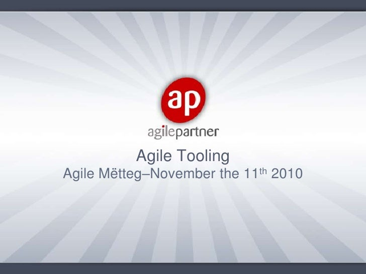 Agile metteg 9(agile tooling)-draft-v1.0