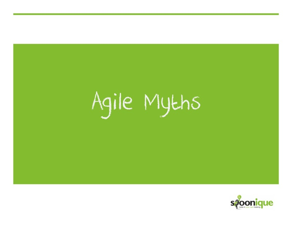 Agile Myths