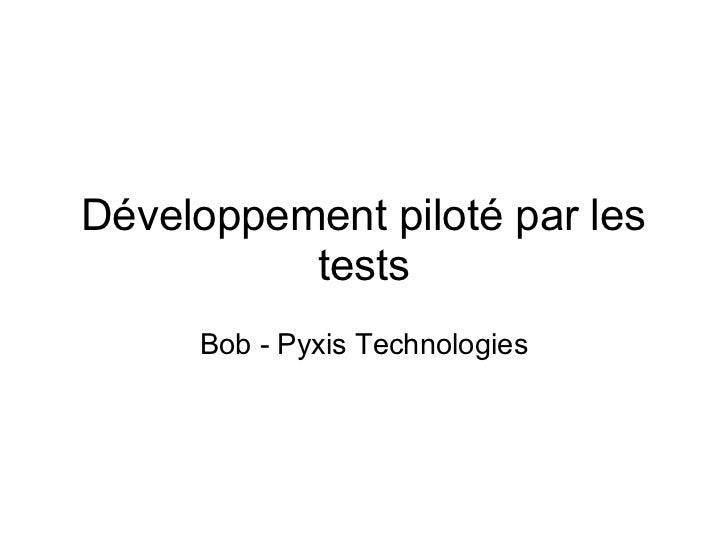 Développement piloté par les tests - DDD
