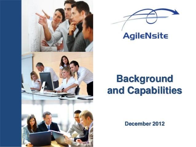 Backgroundand Capabilities   December 2012