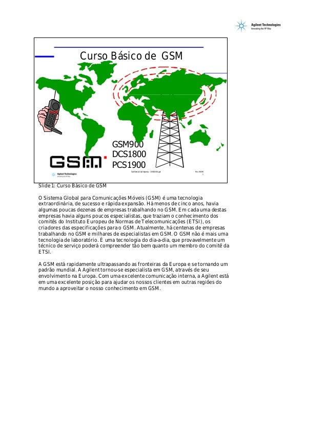 Curso Básico de GSM    GSM                               GSM900                               DCS1800                     ...