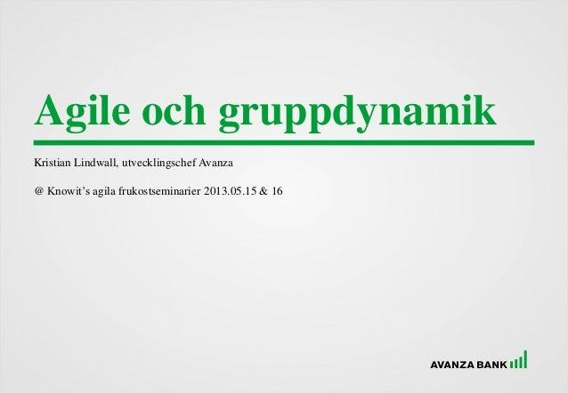 Agile och gruppdynamik