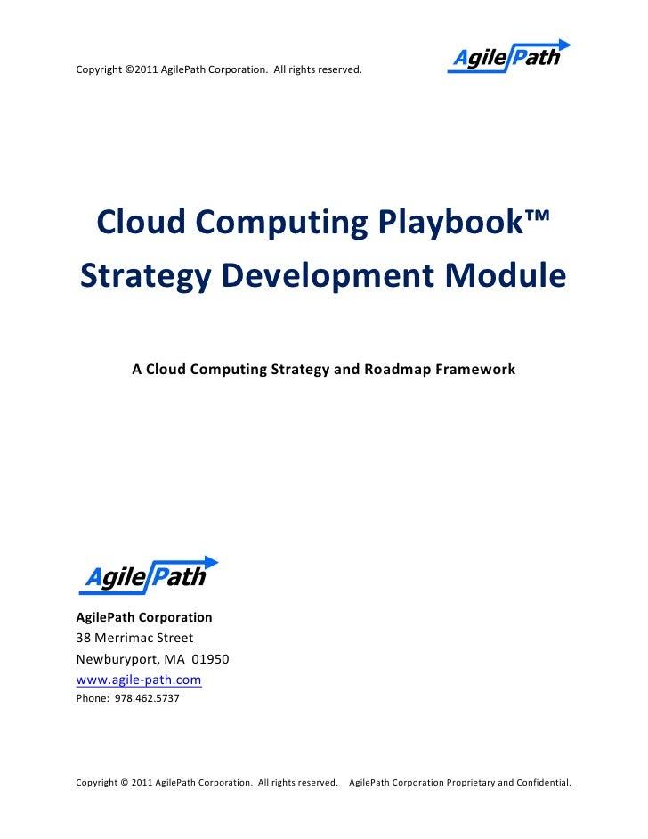 agilepath cloud playbook strategy template. Black Bedroom Furniture Sets. Home Design Ideas