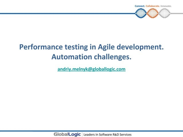 Agile performance testing