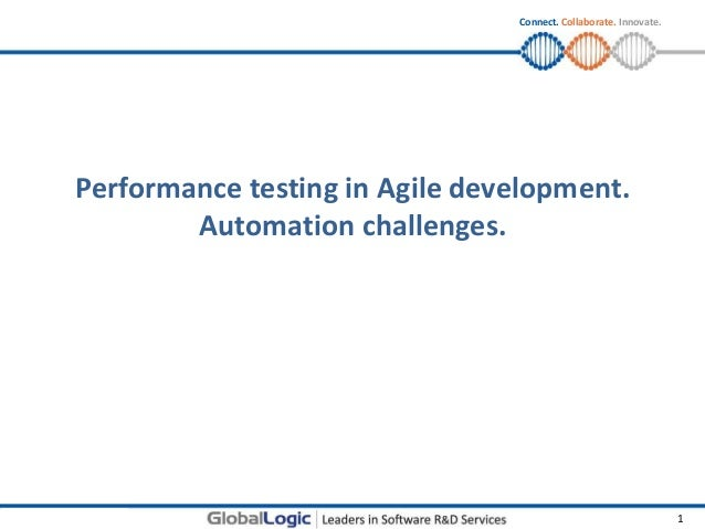 © Copyright GlobalLogic 2011 1Connect. Collaborate. Innovate.Performance testing in Agile development.Automation challenges.