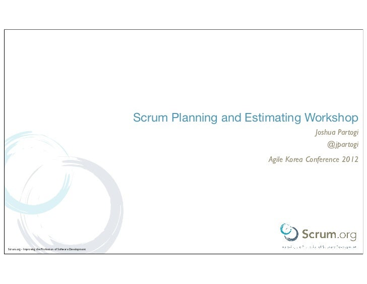 Scrum Planning and Estimating Workshop                                                                                    ...