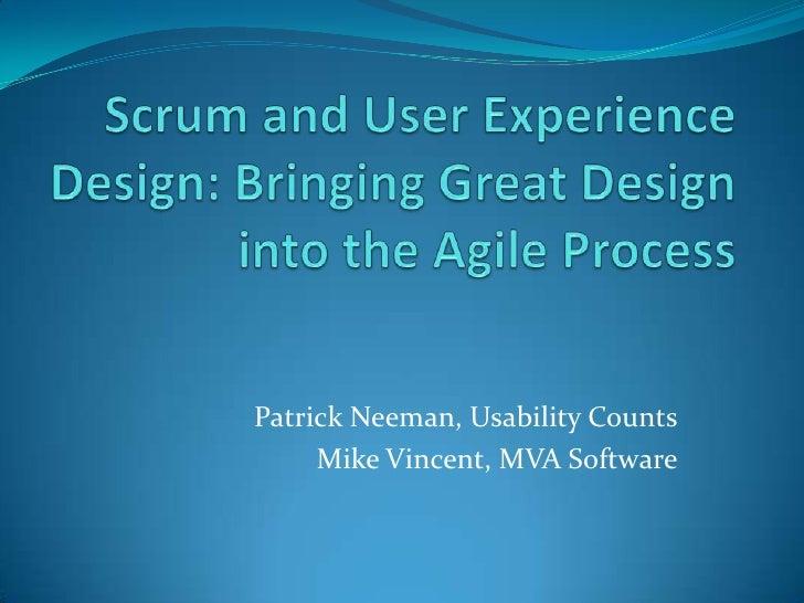 Agile and UX, July 8 - Scrum Club, Los Angeles, CA