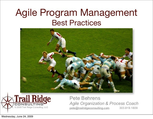 Agile Program Management                                                Best Practices                                    ...
