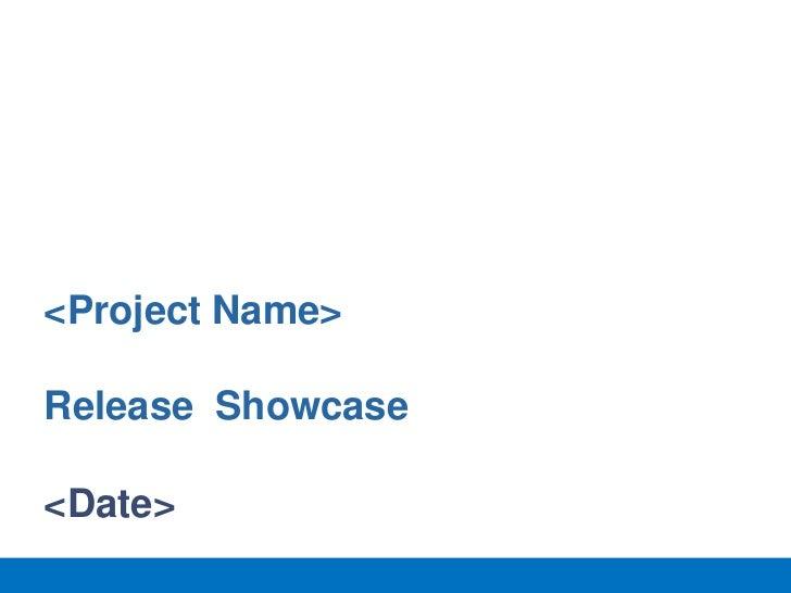Agile release showcase template