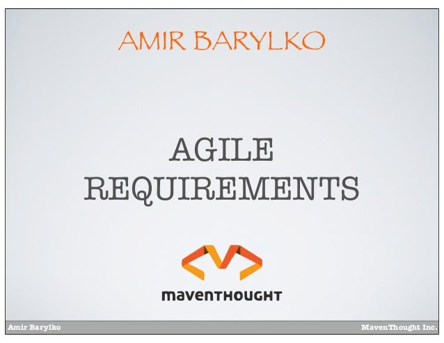 Agile requirements