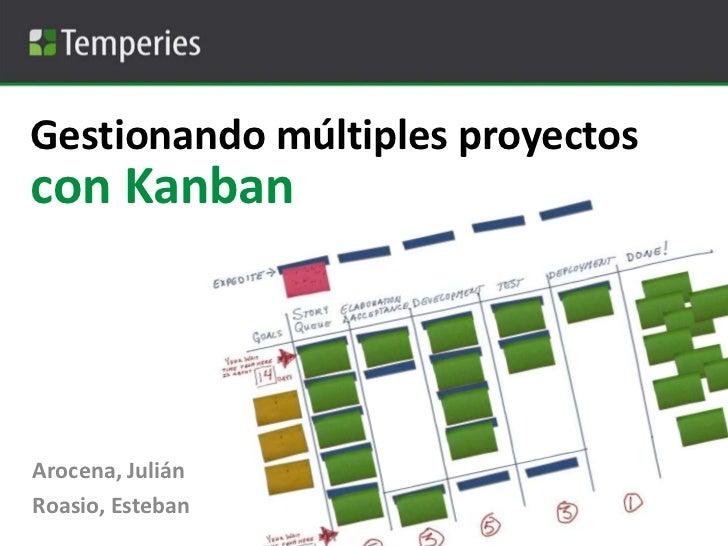 Gestionando múltiples proyectos<br />con Kanban<br />Arocena, Julián<br />Roasio, Esteban<br />