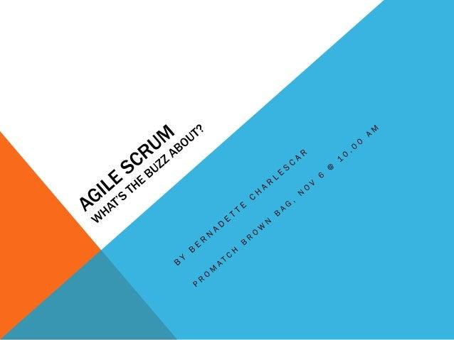 Agile scrum brown bag
