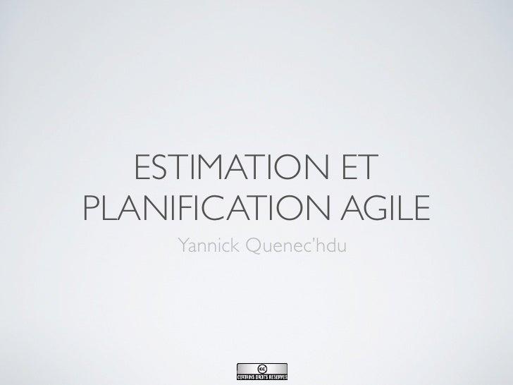 Méthode Agile                        Session 2 : Introduction à l'estimation et la                                        ...