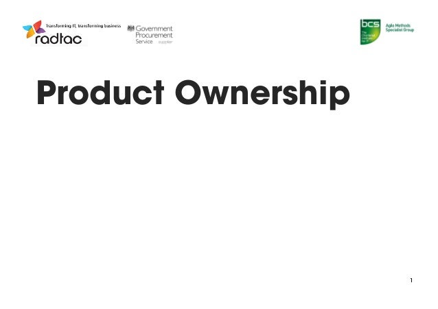 Product Ownership - Jose Casal - Public Sector Agile SIG