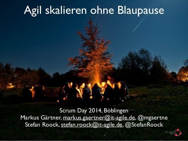 Agil skalieren ohne Blaupause Scrum Day 2014, Böblingen  Markus Gärtner, markus.gaertner@it-agile.de, @mgaertne  Stefan ...