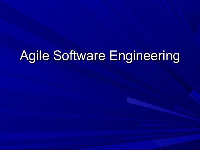 Agile softwareengineering