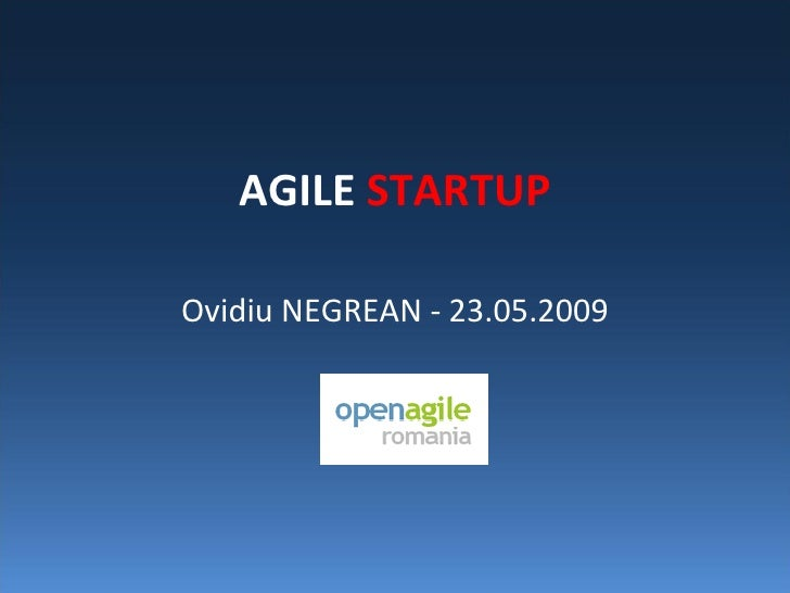 Agile Startup