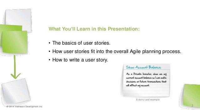How to write agile stories