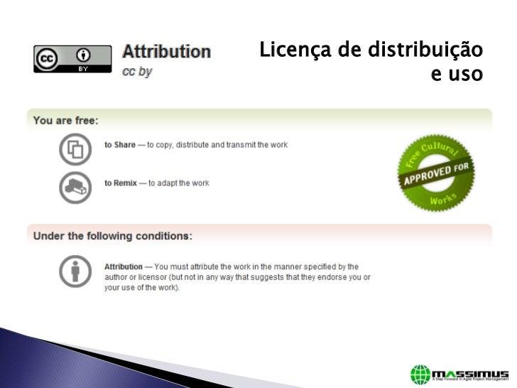 Licença de distribuição                  e uso