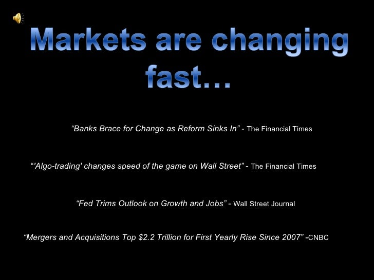 """ Banks Brace for Change as Reform Sinks In""  -  The Financial Times "" Fed Trims Outlook on Growth and Jobs""  -  Wall Stre..."