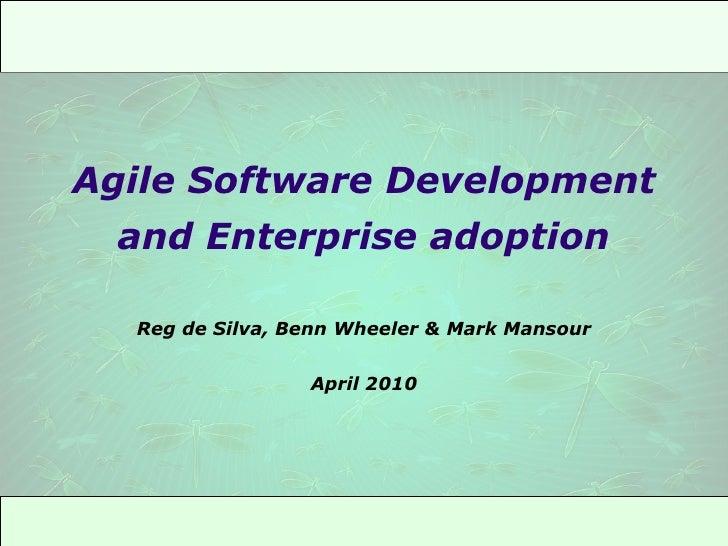 Agile presentation to Telstra, April 2010