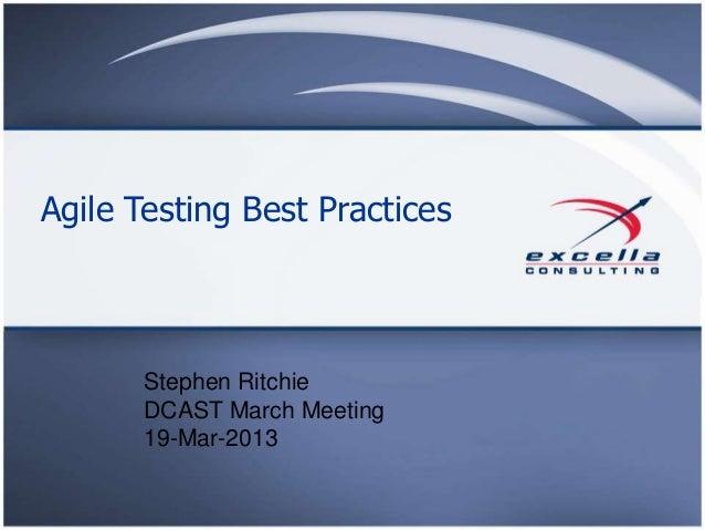 Agile Testing Best Practices