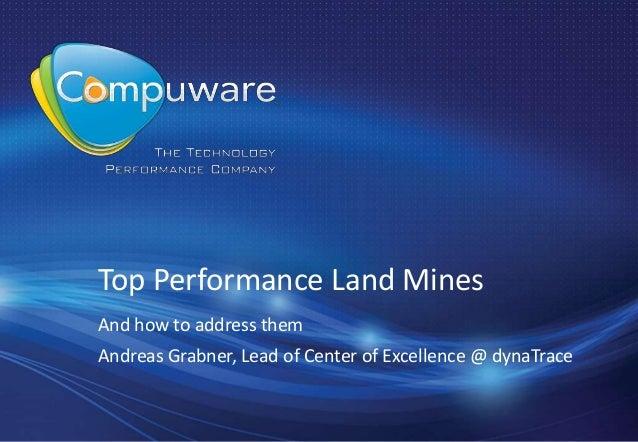 Top Application Performance Landmines