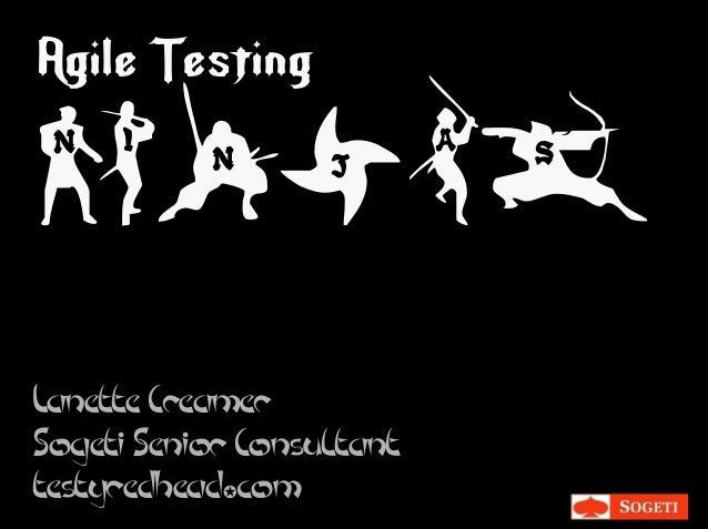 White Master Agile Testing Ninjas Lanette Creamer Sogeti Senior Consultant testyredhead✪com