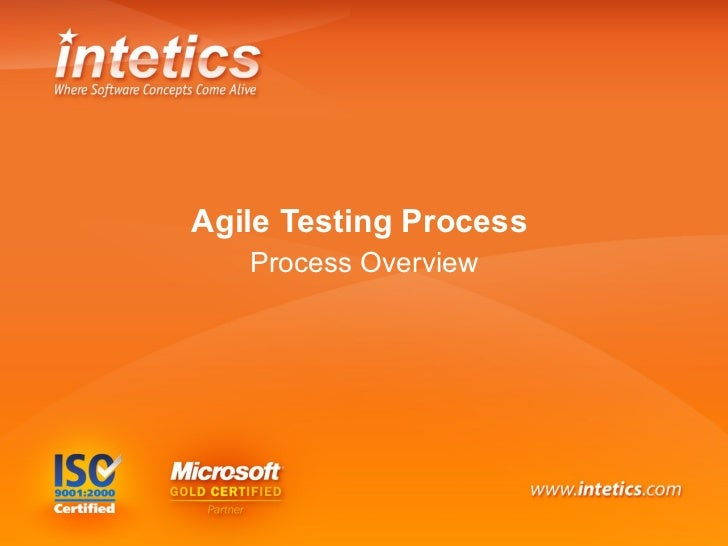 Agile Testing Process   Process Overview