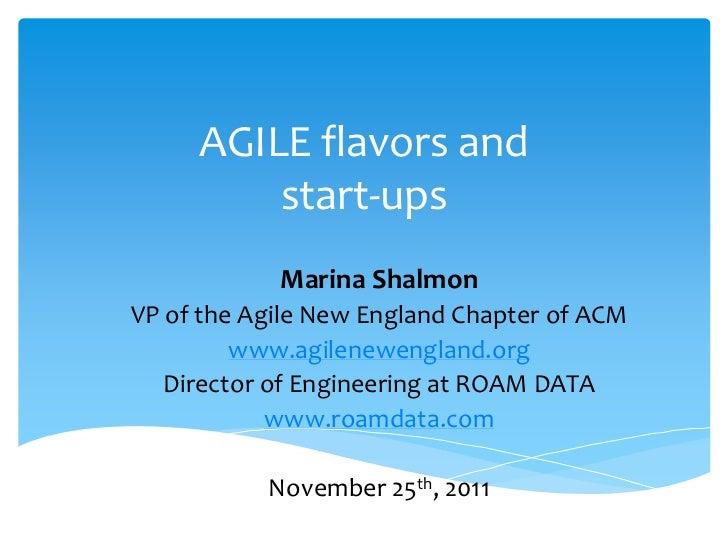 Agile tour 2011   marina shalmon