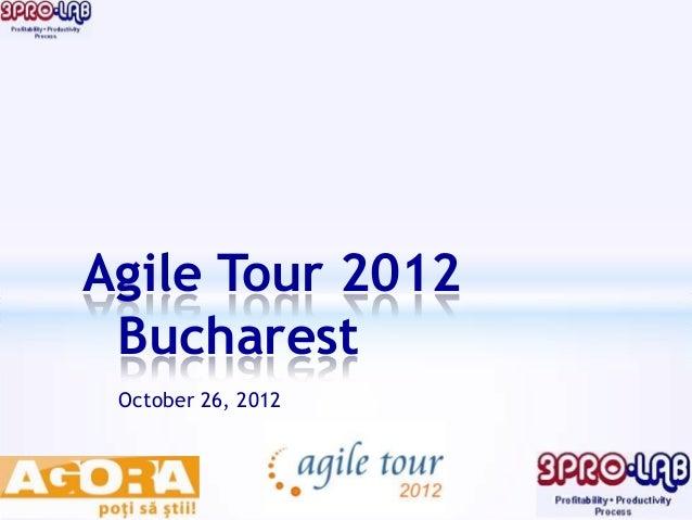 Agile Tour 2012 Bucharest October 26, 2012
