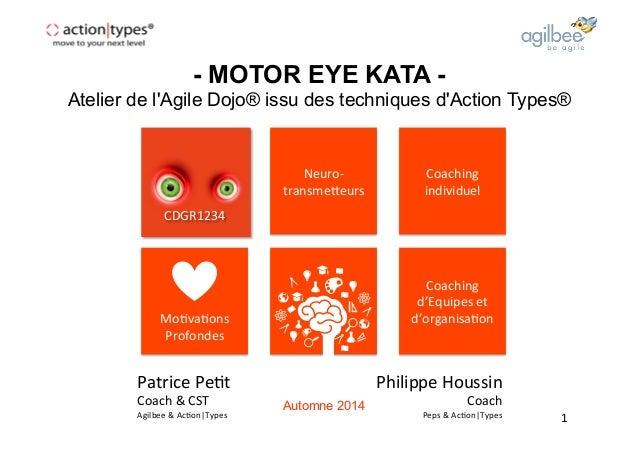 - MOTOR EYE KATA -  Atelier de l'Agile Dojo® issu des techniques d'Action Types®  Philippe  Houssin  Coach  Peps  &  Ac2on...