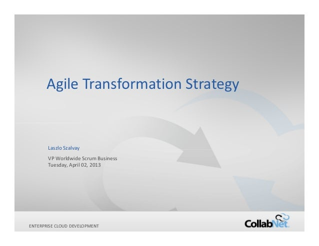 Agile Transformation Strategy        Laszlo Szalvay        VP Worldwide Scrum Business        Tuesday, April 02, 2013ENTER...