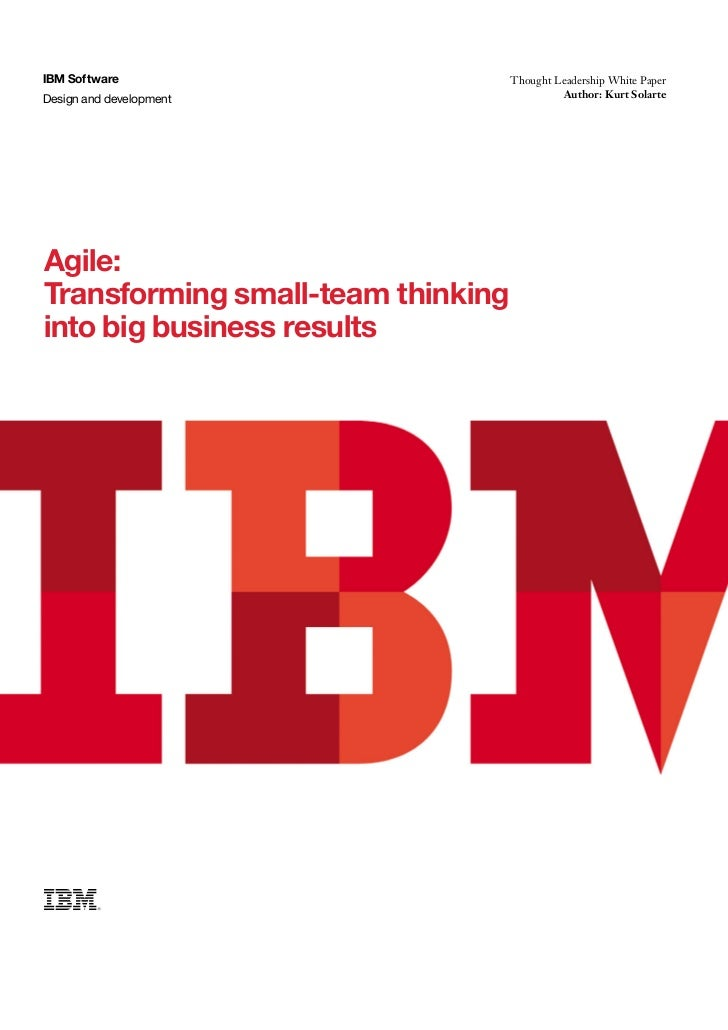 IBM Software                       Thought Leadership White PaperIBM SoftwareDesign and development              Thought L...