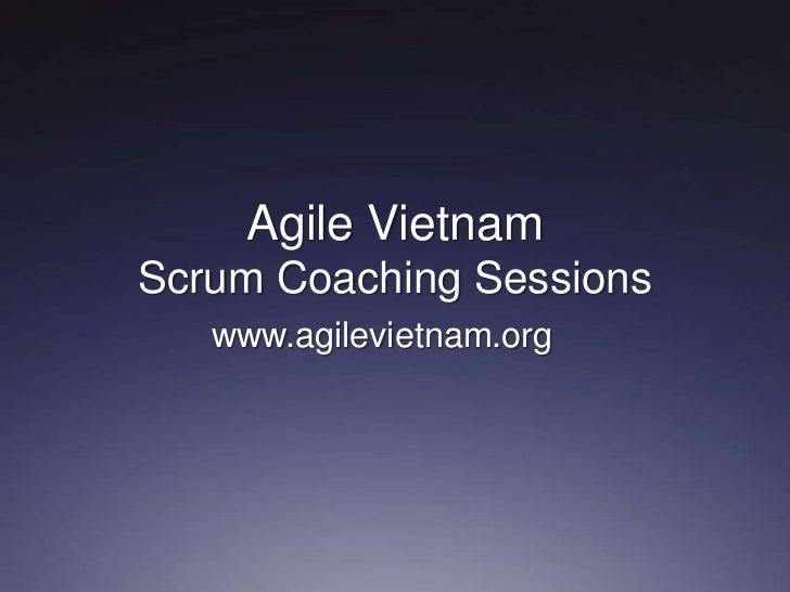 Agile vietnam scrum coaching sessions
