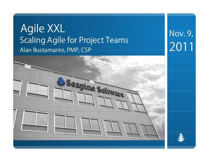 Webinar: Agile XXL - Scaling Agile for Project Teams