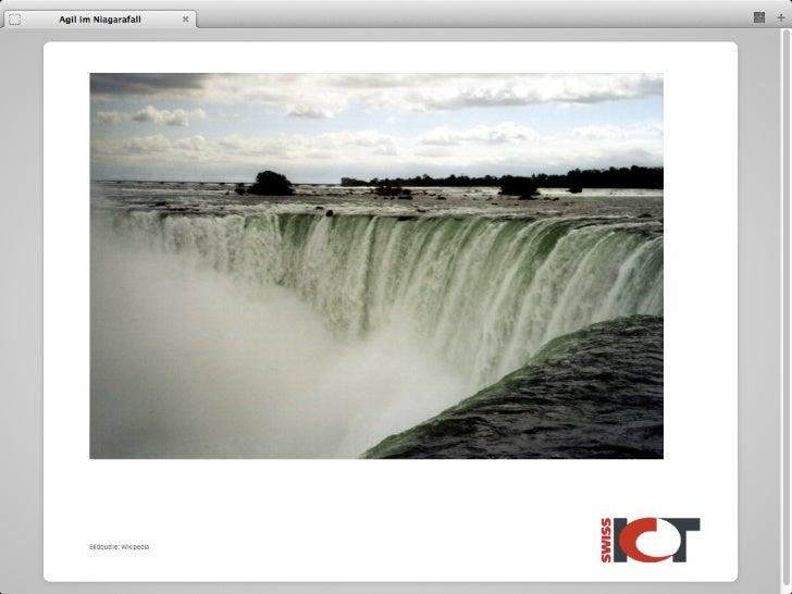 Agil im Niagarafall