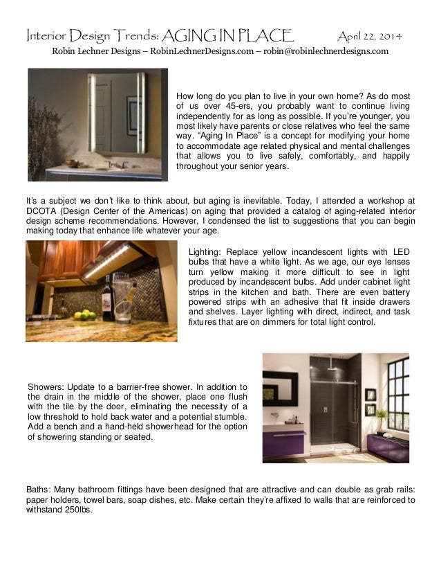Interior Design Trends: Aging In Place