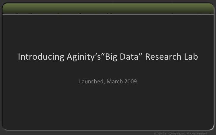 Aginity Big Data Research Lab V3