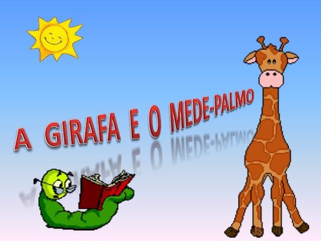 A girafa e o mede palmos