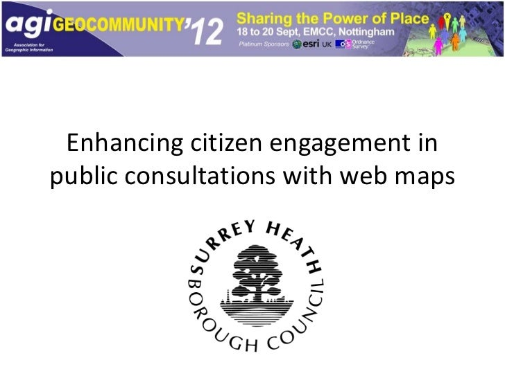 Enhancing citizen engagement inpublic consultations with web maps