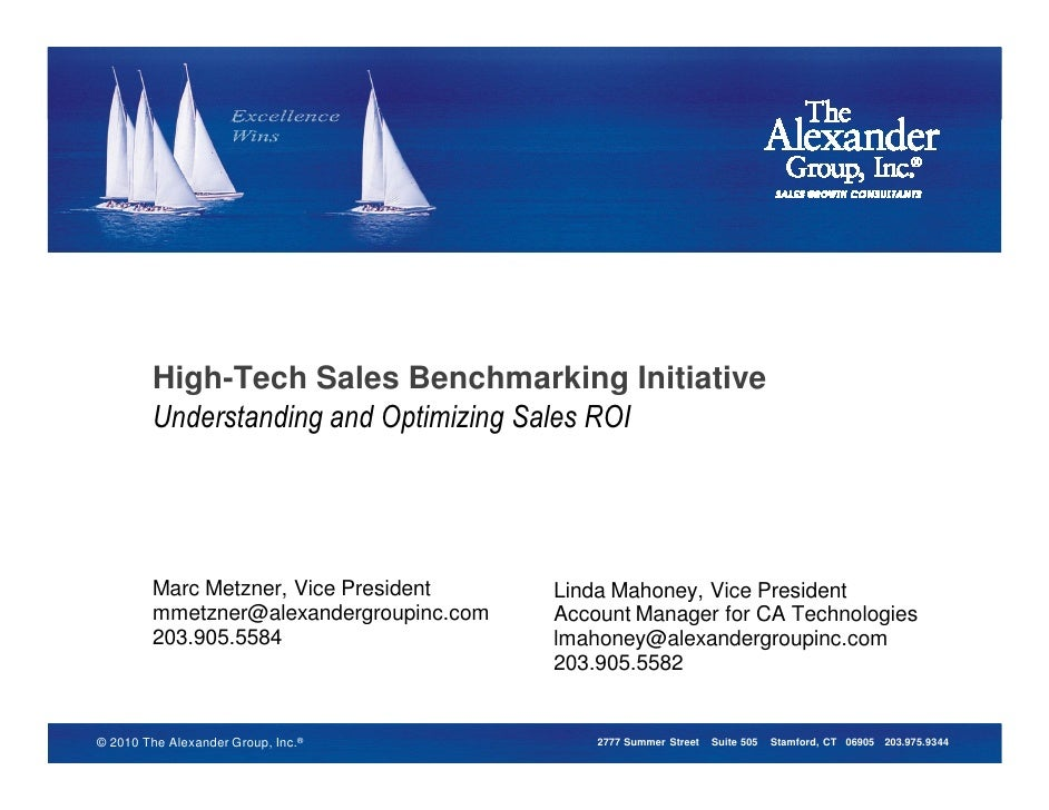 High-Tech Sales Benchmarking Initiative           High-Tech Sales Benchmarking Initiative         High-Tech Sales Benchmar...