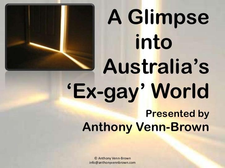 A glimpse into australia's ex gay world