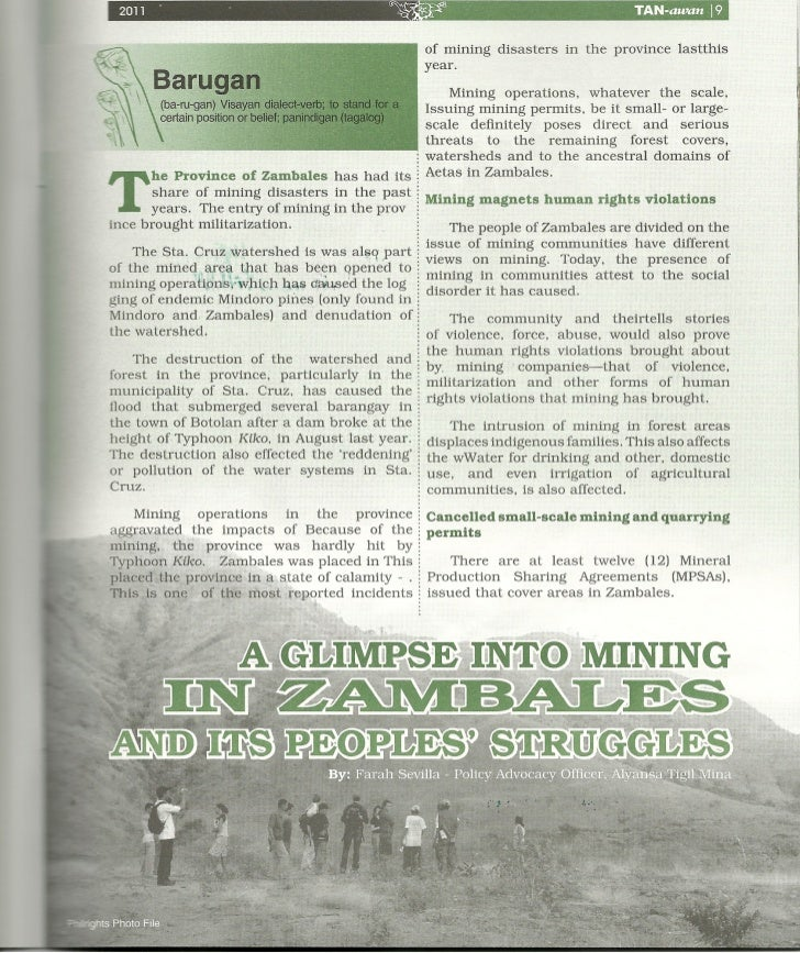 A glimpse into mining in Zambales by Farah Sevilla